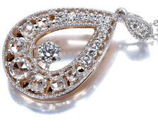 Diamond 0.50ct rose-cut necklace 18K 750 White Rose Gold