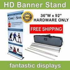 "HD Retractable Banner Stand 36"" Pro Line Up - Professional Tradeshow Display"