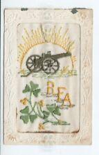 Postcard.Silk RFA Royal Field Artillery.  Possible Torquay Collection.