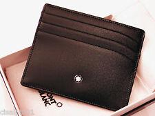 MONTBLANC Black Meisterstück  Pocket 6cc - 100% calf leather id. 106653