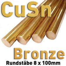 Bronce CuSn alrededor de vara ánodo 100mm x ⌀ 8 mm galvanik electrolizar metal barra redonda