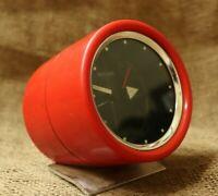 vintage Retro Red Alarm clock bulova (JAPAN) Rare Clock wind up Tube alarm Clock