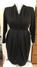 Vintage 90's The Kollection Ltd. wool/acrylic sz 6 black tulip dress Bnwt $165
