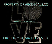 VRS Love Logo Basketball Ball I HEART CAR DECAL METAL STICKER