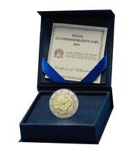 2 euros commemorative Malte 2014 Indépendance 1964 Proof BE envoi GRATUIT
