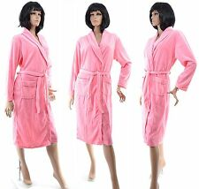 Robe de Chambre Peignoir Femme Velours Ras Polaire ROSE ABRICOT 44 46 48 DOUCE