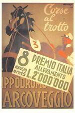 C6826) BOLOGNA IPPODROMO ARCOVEGGIO, CORSE AL TROTTO. 8 PREMIO ITALIA.