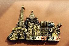 France Paris Landmarks Tourist Travel Souvenir 3D Metal Fridge Magnet Craft