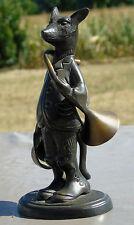 Sculpture en bronze, séries des animaux, sonneurs de chasse à Courre: le Renard