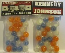 2 Bags Of Kennedy & Johnson For President Promo Marbles