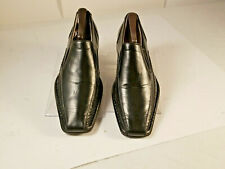 Steve Madden Mens Loafers Leather Black Ornate Size 8M