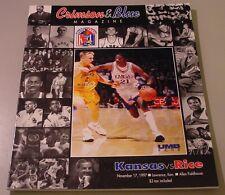 KU Jayhawk Basketball Program - Rice Nov 17, 1997