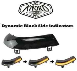 DYNAMIC BLACK SIDE REPEATER INDICATOR PAIR VW PASSAT B6 JETTA GOLF MK5