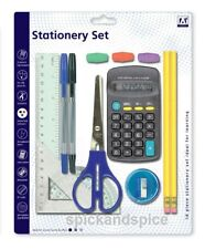 SCHOOL STATIONARY SET  PENS RULER HB PENCIL CALCULATOR STATIONERY BACK TO CLASS