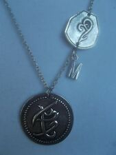 N025 The Mortal Instruments City of Bones Fearless and Strength Necklace +
