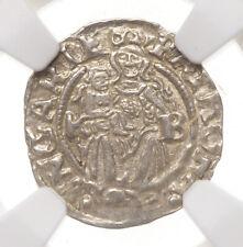 HUNGARY. Ferdinand I, Silver Denar, 1550-KB, NGC MS62
