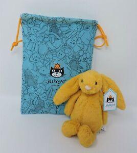 "Jellycat Bashful Saffron Bunny Rabbit 8"" Soft Toy Stuffed Animal With Bag New"