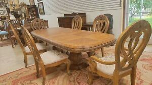 """AICO by Michael Amini """"Eden """" Collection Dining Table & Six Chairs L 111"""" or 81"""""""