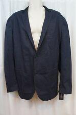 INC International Concepts Mens Blazer Sz M Navy Blue Ponte Knit Cotton Jacket