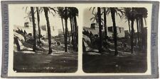 Egypte.Egypt.Les Pigeonniers d'Abydos.Photo Stereo argentique.Stereoview.An 1900