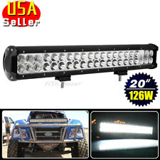 20inch 126W Led Light Bar Spot Flood Work Driving Truck ATV Fog Offroad Lamp Car