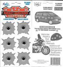 Hardley-Dangerous Illusions - 6 High Impact Bullet Hole Decals / Stickers