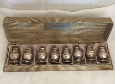 Vintage Sterling Silver Salt & Pepper Spice Shakers Set Of 8 In Box