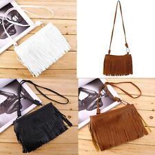 Women Fringe Tassel Messenger Cross Body Shoulder Sling Mini Bags Handbags