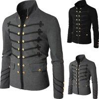 Retro Men's Gothic Brocade Jacket Frock Coat Steampunk Victorian Morning Coat