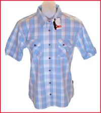 Bnwt Men's Authentic Hero Wrangler Short Sleeve Shirt New RRP£59.99 Large Blue