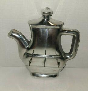 Vintage Silver Teapot 3 Hook Key/Mitt Wall Hanger Kitchen Home Decor