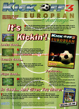 "Kick Off 3 European Challenge ""Anco"" 1994 Magazine Advert #5740"