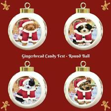 Gingerbread Candyfest Dog Cat Pet Photo Round Ball Christmas Tree Ornament