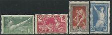 """N°183 à 186(signé) série """"Jeux Olympisuqes de Paris"""" 1924 Neuf** TB - Cote: 158€"""