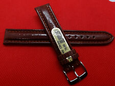 Mens Di-Modell Brown Padded Genuine Teju Lizard 18mm Watch Band Silver Buckle