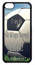 Soccer Football Theme Bible Verse Black/White Case Cover For Apple iPod 4 5 6