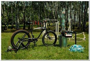 Schredder plastik Kunststoff - PET flasche Fahrrad angetrieben bike generator
