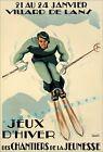Ski France 1942 Villard De Lans Vintage Poster Print Retro Winter Skiing Sports