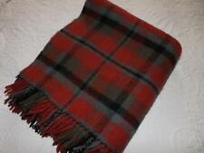 More details for vintage burkraft pure new wool blanket 57 x 66 in tartan check plaid throw cover