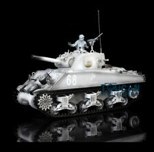 US Stock HengLong 1/16 M4A3 Sherman Upgraded Metal RTR RC Tank Model 3898 Snow
