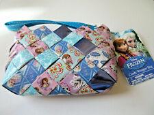 NWT DISNEY FROZEN Candy Wrapper Bag Purse Wristlet Hand Woven