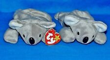 "Ty MEL Lot of (2) Gray Koala Bear Outback (8"") Beanie Baby 1997 Boy Girl 3+NT-CT"