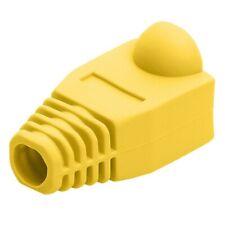 50PCS RJ45 Ethernet Network LAN Cable Lead Plug End Connector Cover Boot ^JH