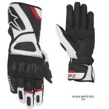 Alpinestars Black-White-Fluorescent SP-Z Drystar Motorcycle Leather Gloves