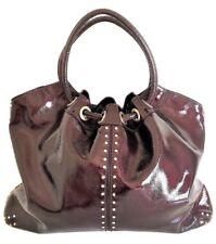 785cfe92c3be22 Michael Kors Astor Large Studded Burgundy Patent Leather Studded Hobo Tote  $448