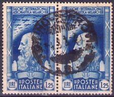 I° SALONE AERONAUTICO INTERNAZIONALE - 2 RARI FRANCOBOLLI - 1935