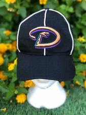 Rare VTG 90s Twins Tag Black Arizona Diamondbacks White Stripe Baseball Hat Cap