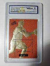 1996-97 Fleer Ultra Michael Jordan COURT MASTERS GOLD 23KT Card Graded WCG 10
