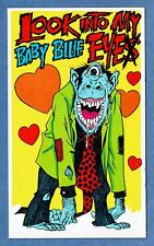 Topps 1966 Insult Postcard #20 - LOOK INTO MY BABY BLUE EYE ! - UNUSED - GREAT