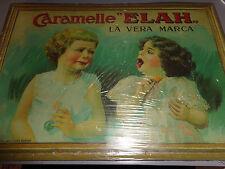"TARGHE PUBBLICITARIE DA COLLEZIONE N°20 CARAMELLE ""ELAH "" LA VERA MARCA HACHETTE"